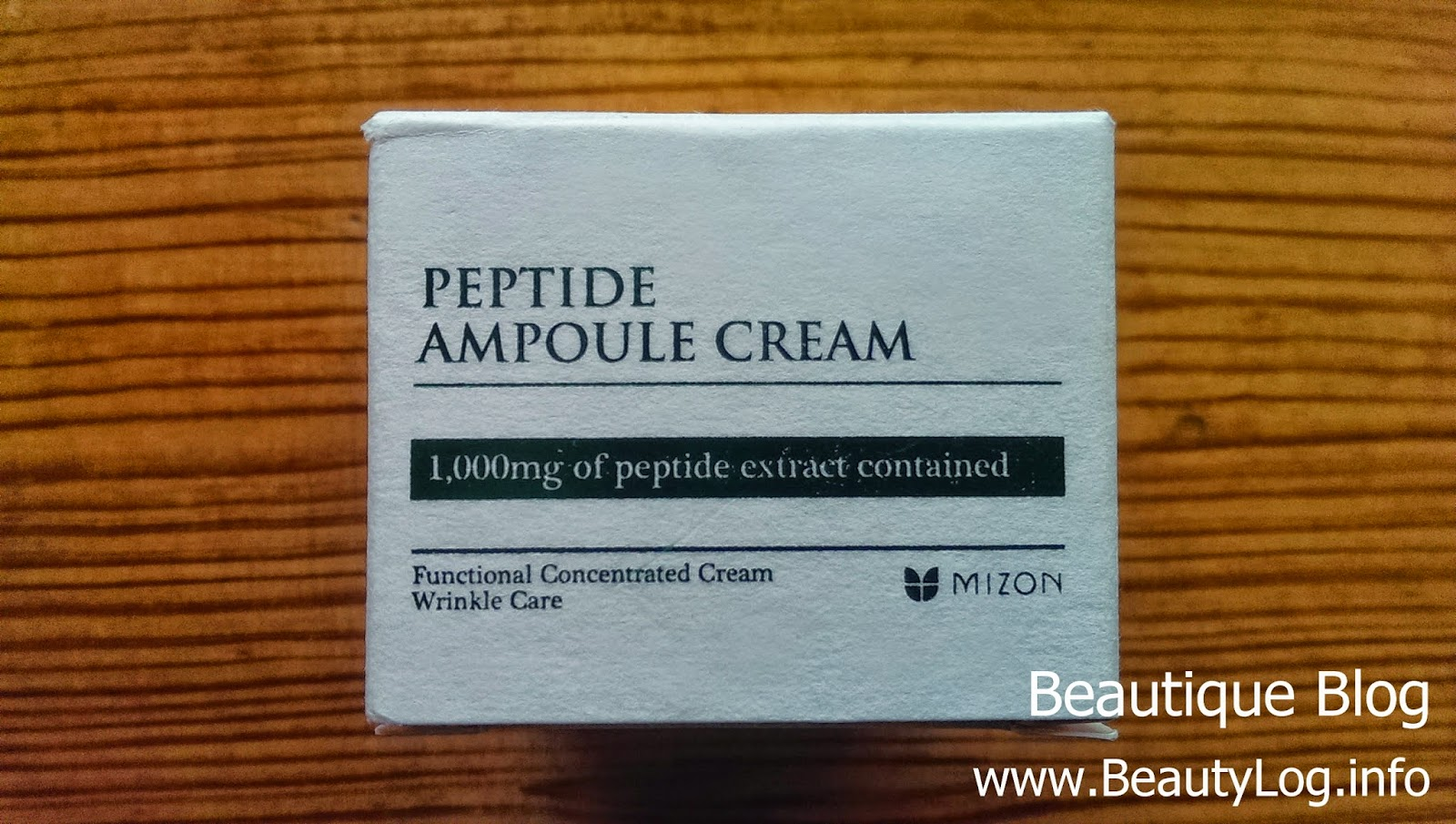 Тест крема Mizon Peptide Ampoule cream - упаковка