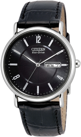 Top 5 Citizen Men's Watches For Summer 2013: Men's Citizen Black Leather Watch