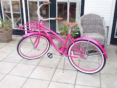 Mijn roze fiets...