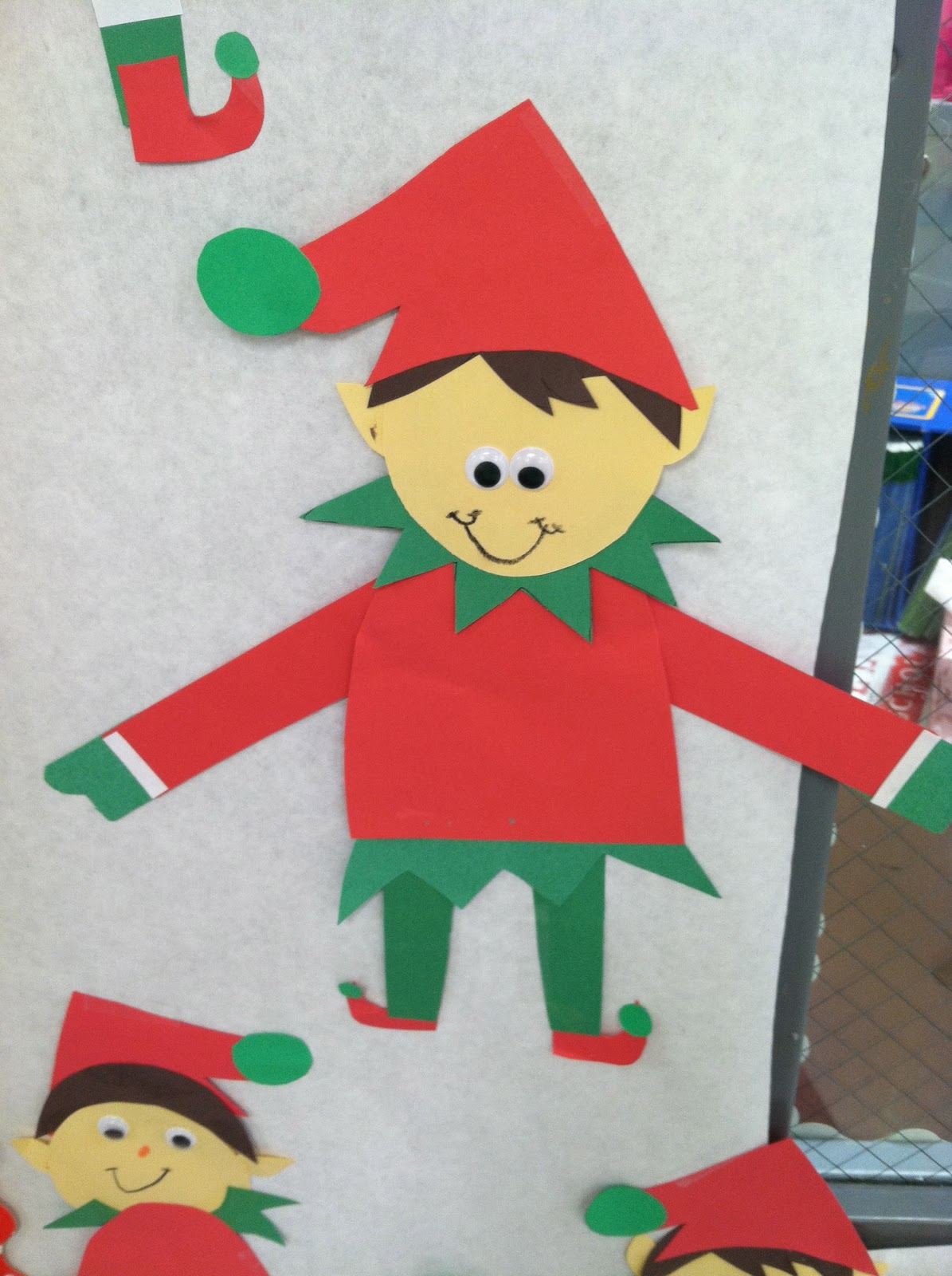 Life in first grade elf craft freebie for Free christmas crafts for kids