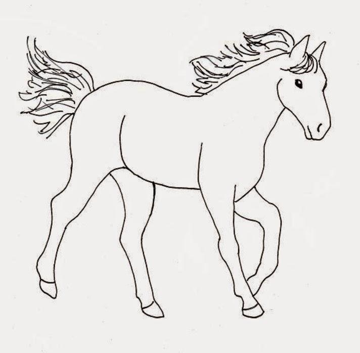 Disegni da colorare cavalli cavallo 4 disegni da for Immagini di cavalli da colorare