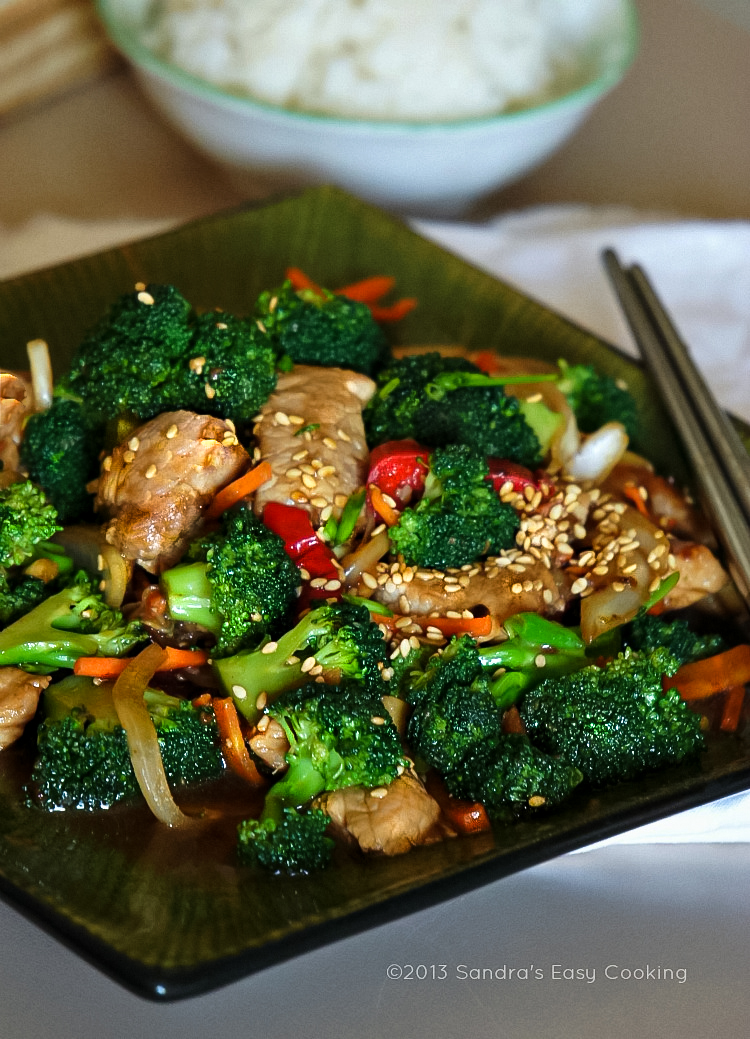Chinese Broccoli and Pork Tenderloin Stir Fry