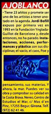 1997- FUNDACIÓN NEREO EXHIBITION- CASA CARMEN AMAYA.BEGUR.GIRONA.