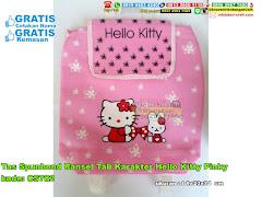 Tas Spunbond Ransel Tali Karakter Hello Kitty Pinky