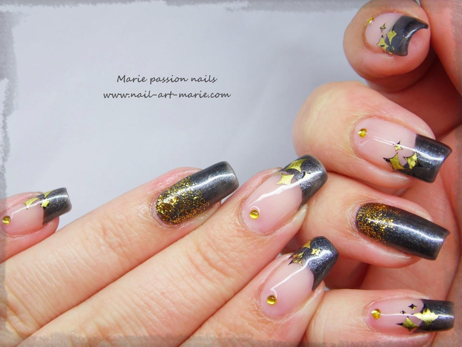 nail art stamping au foil3