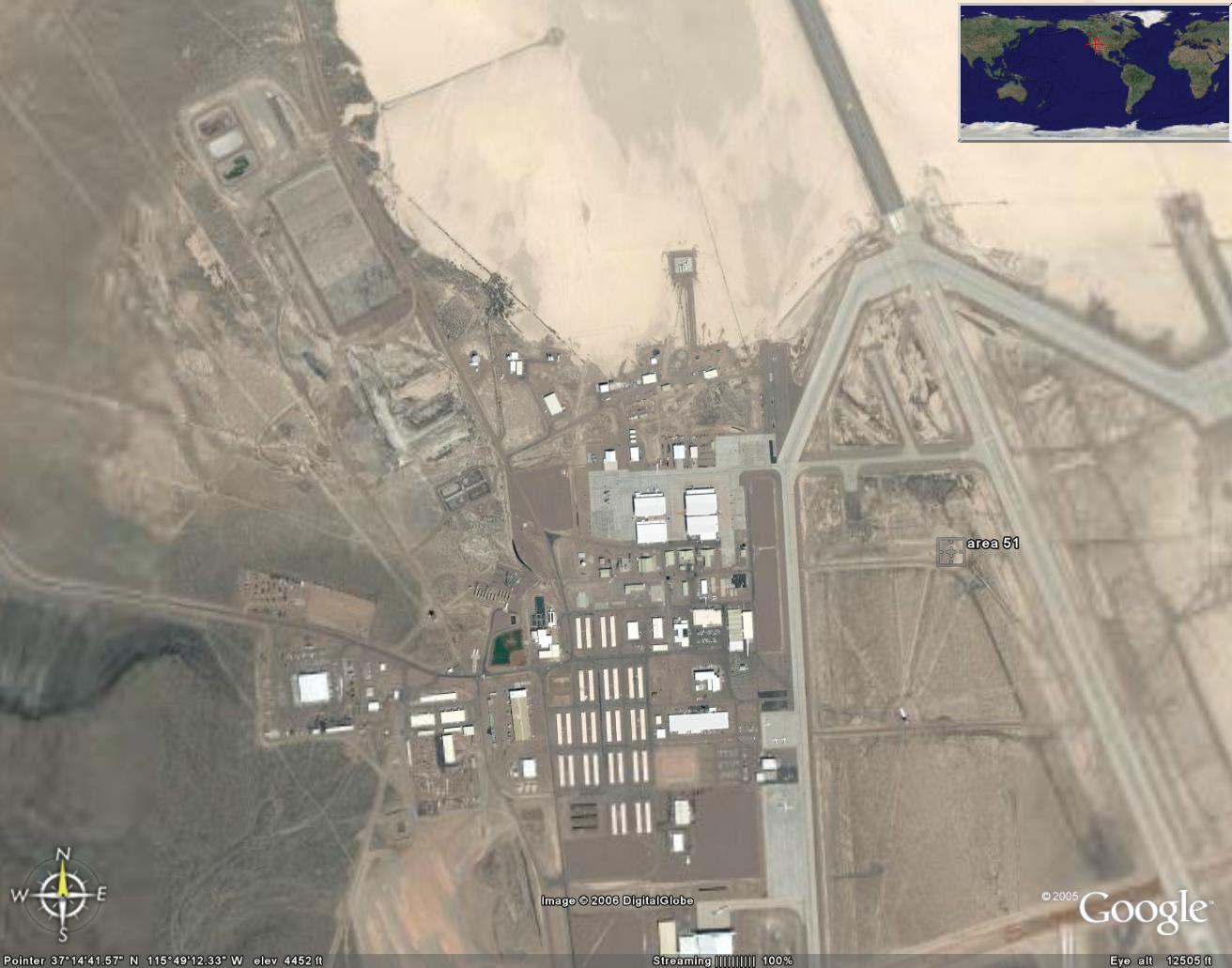 Где находится зона 51 на карте гугл