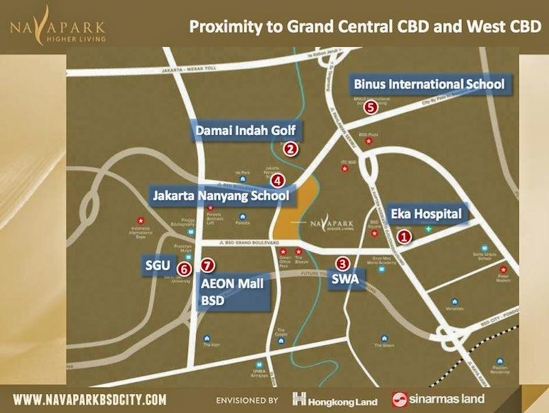 Peta Lokasi NavaPark BSD City