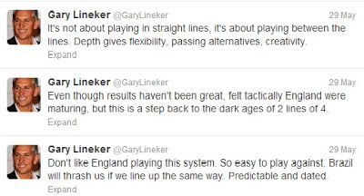 Gary Lineker tweets on England