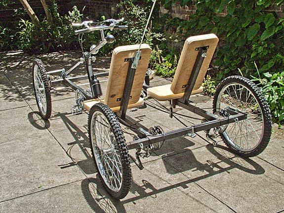 Carro de dos asientos con pedal para adulto