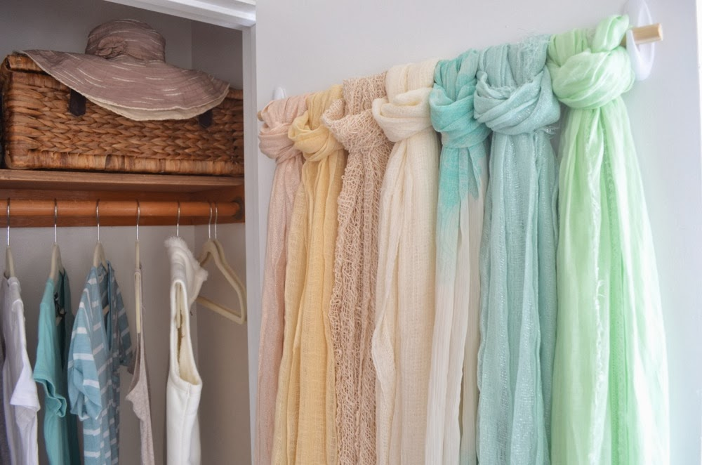 modern bohemian lifestyle organizing idea for scarves