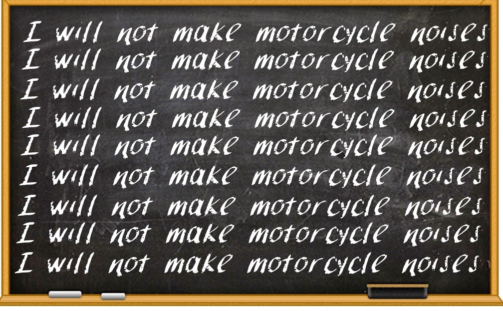 I will not make motorcycle noises T-shirt