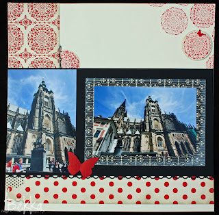 Prague Cathedral Scrapbook Page