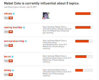 I've got Klout on Twitter