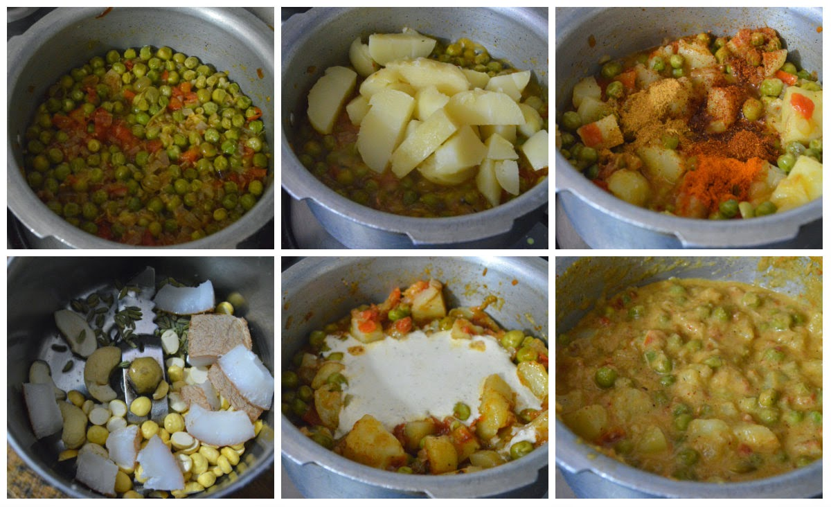 potato peas kurma