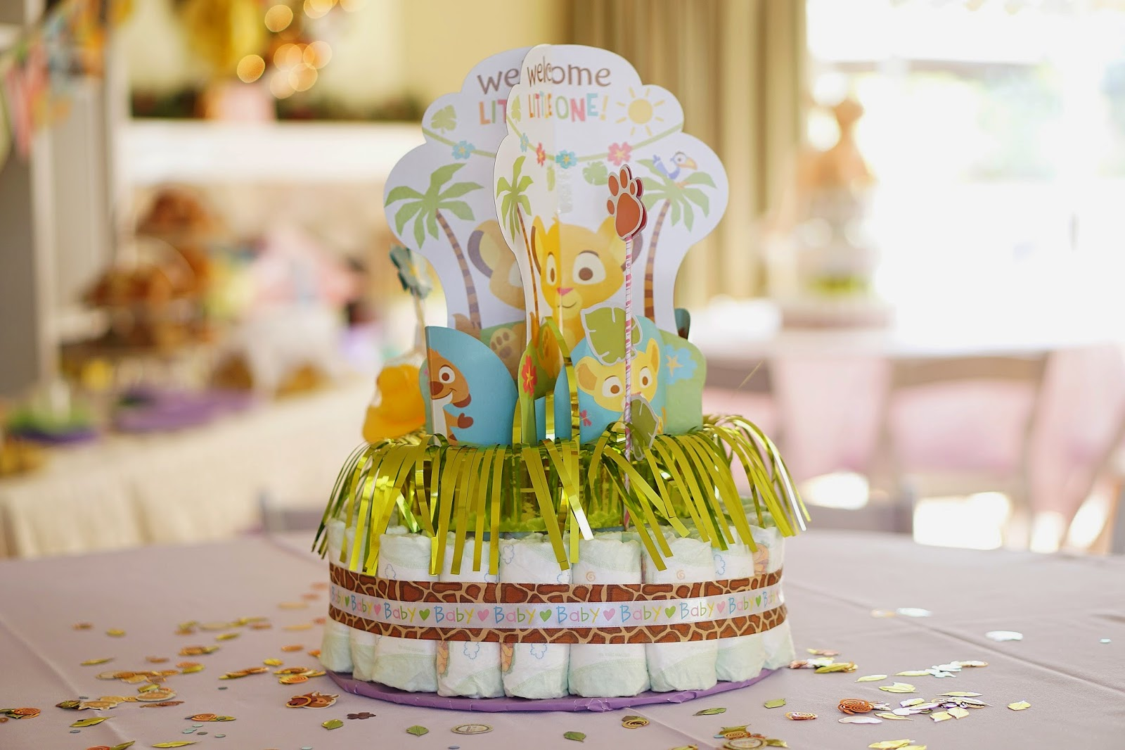 Lion King Baby Shower Theme, Girl Lion King Baby Shower, Baby Shower ideas, Girl Baby Shower Ideas, Lion King Theme Party, Diaper Cakes, Jungle Theme Baby Shower, Lion King Baby Shower, Lion King Party, Lion King