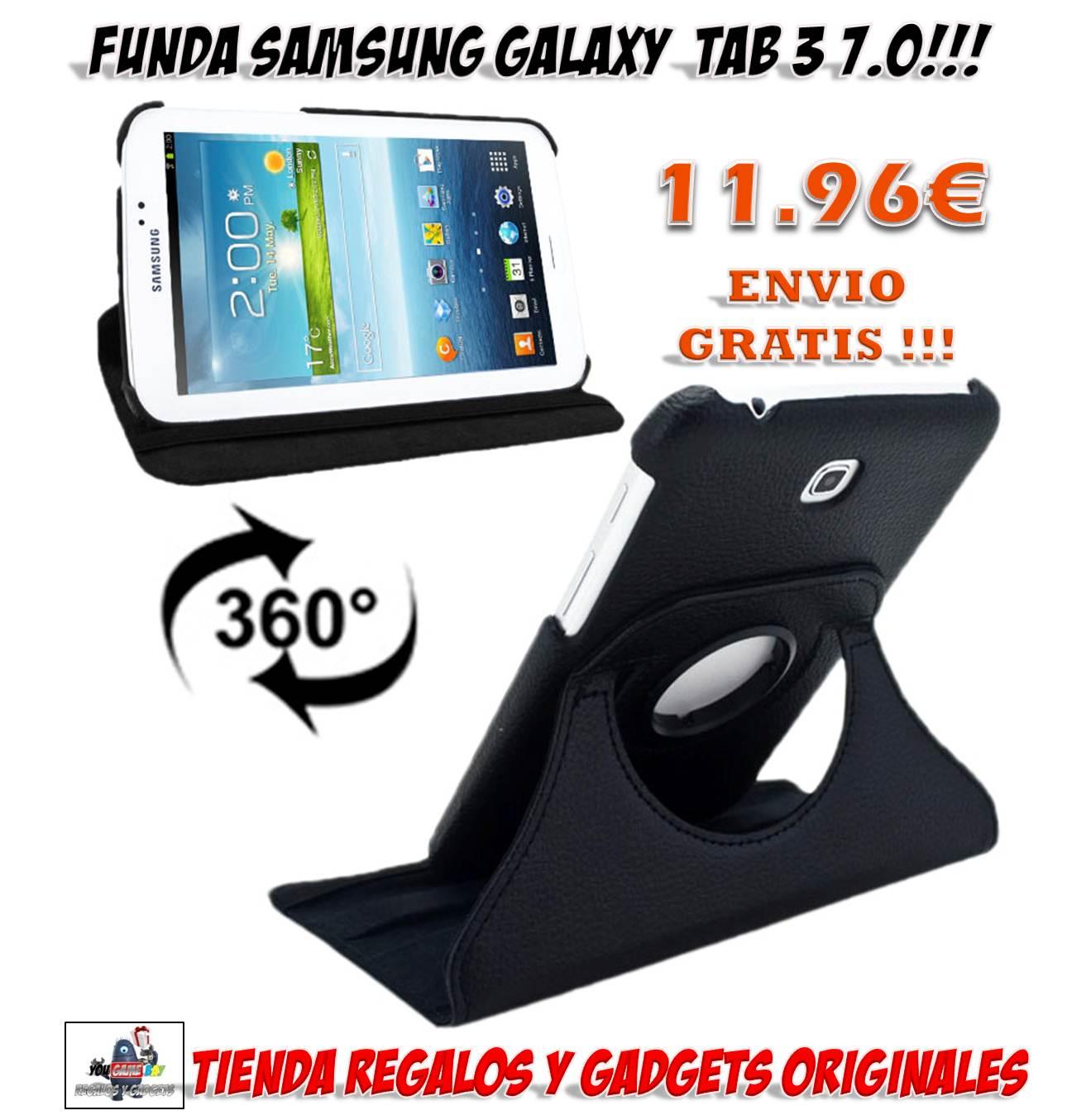 Funda giratoria tablet samsung galaxy tab 3 por solo euros accesorios - Funda samsung galaxy tab ...