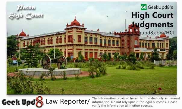 Patna High Court, Bihar Judgments