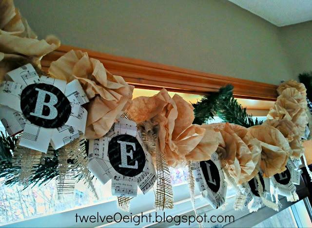 "alt=""vintage believe paper garland"""