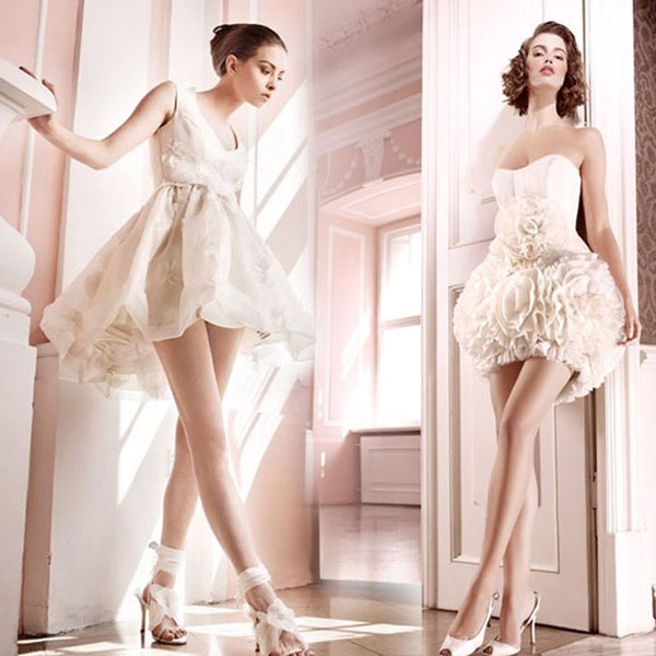 Wedding dress business i love short wedding dresses for Cute short wedding dresses