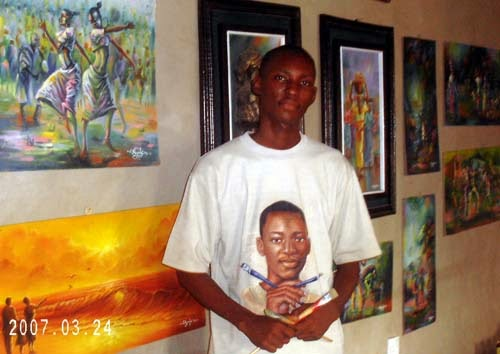 the most famous painting artist from nigeria
