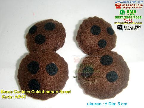 Bros Cookies Cokelat Bahan Flanel