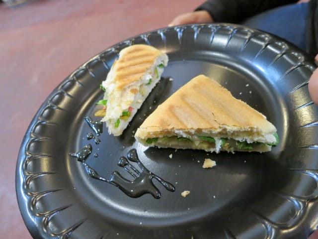 Grilled panini at Kacaba