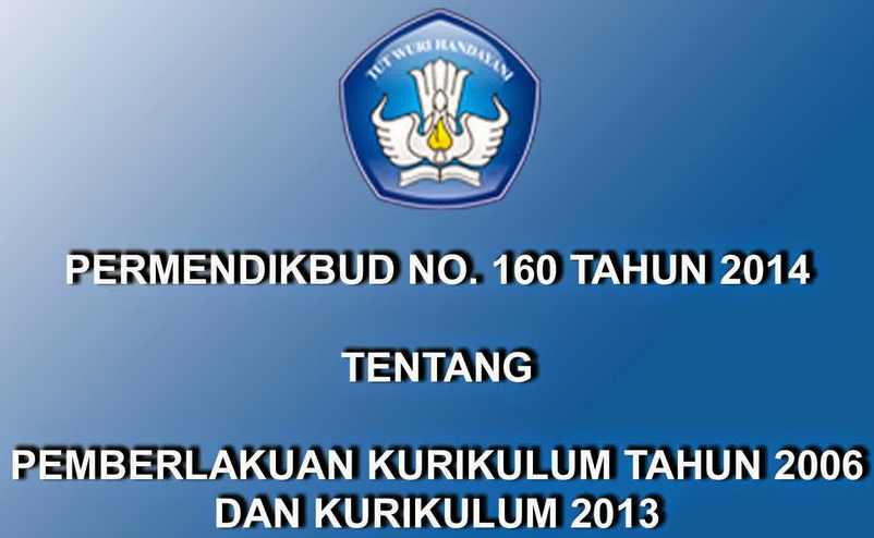 Permendikbud No 160 Tahun 2014