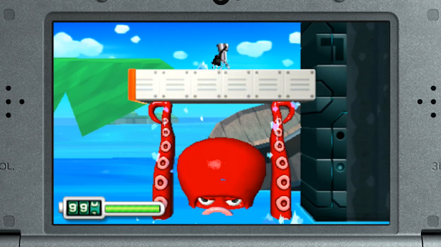 Chibi Robo Zip Lash Octopus Nintendo 3DS