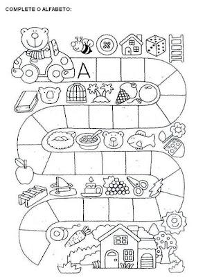 Educação Infantil Atividades - Complete Alfabeto - Educação Infantil