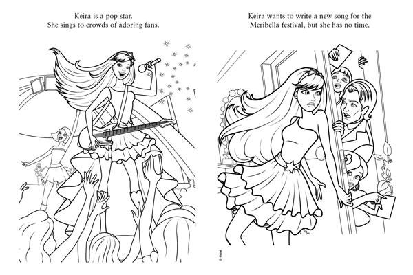 Раскраски для девочек барби рок принцесса