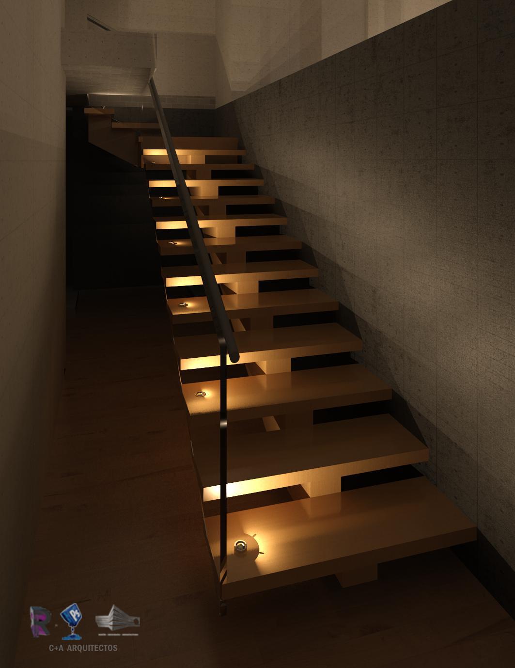 C a arquitectos dise o infografia arquitectura renders - Iluminacion de escaleras ...