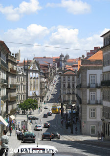 Clerigos Street in Oporto