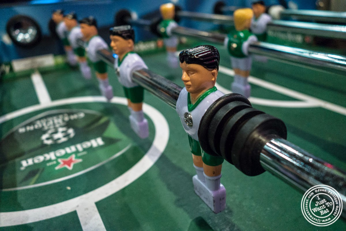 image of table football at Sounds Of Brazil SOB's in NY, New York