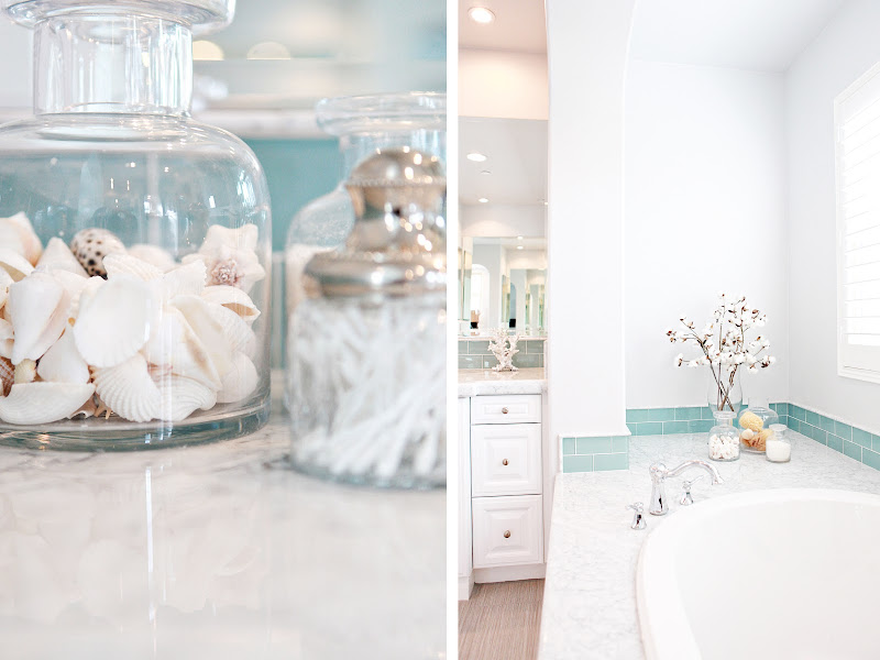 White Floating Bathroom Shelves