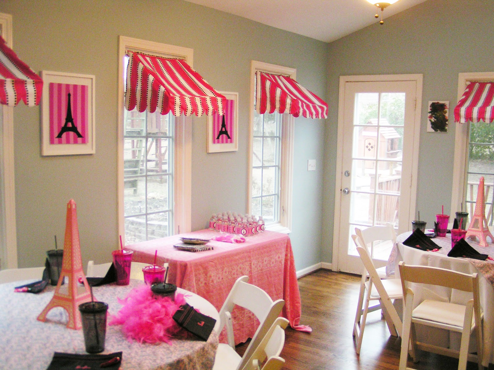 Three Pink Ducks: Paris Birthday Awning Tutorial
