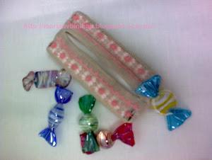 Funda de pañuelos con caramelos