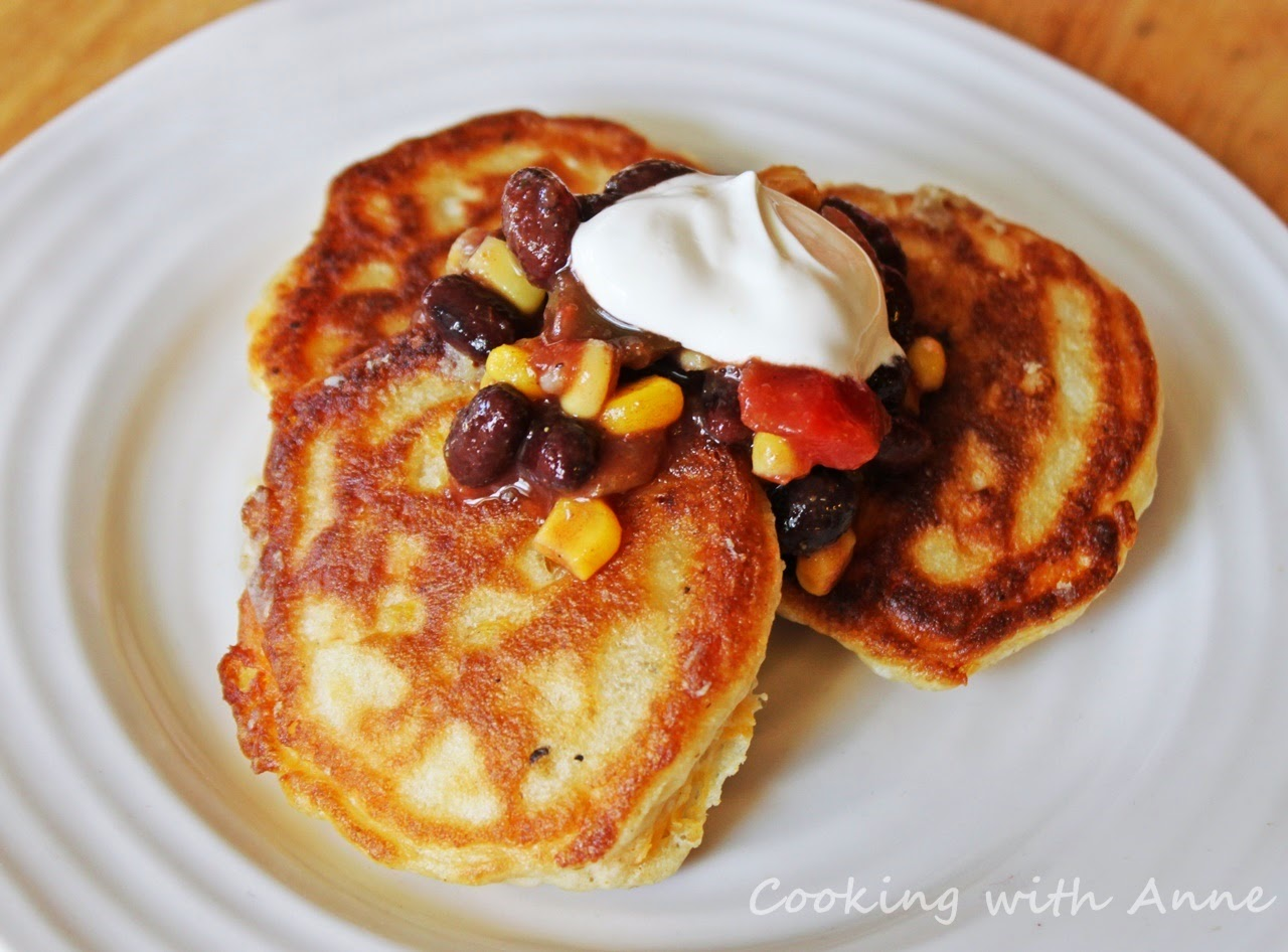 Corn Fritters with Black Bean Salsa