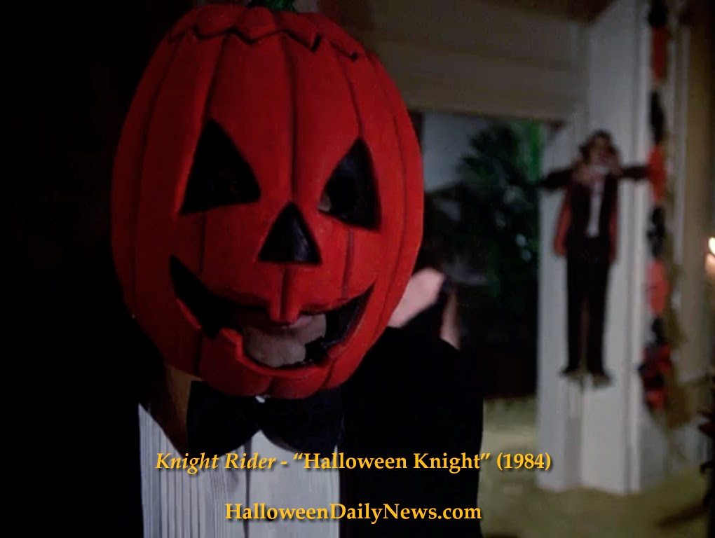 in the season 3 episode titled halloween knight a pumpkin mask from halloween iii season of the witch clearly featuring the infamous silver shamrock