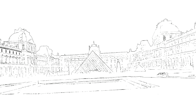 Louvre museum sketch