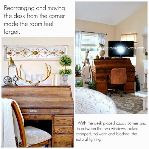 How to rearrange furniture at One More Time Events.com