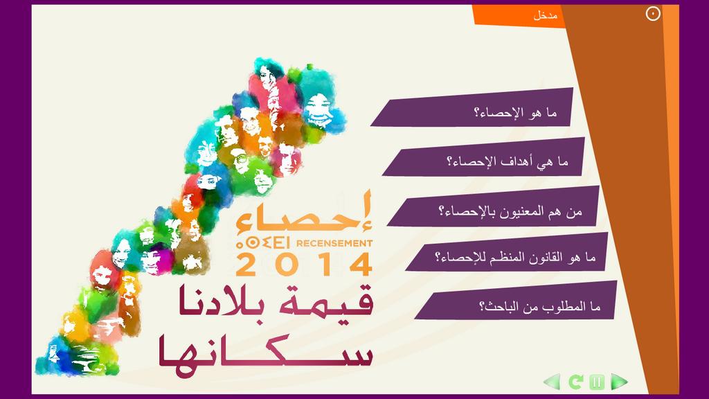 مورد رقمي لتكوين المشاركين في الإحصاء العام للسكان والسكنى لسنة 2014