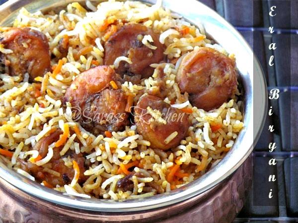 Shrimp Biryani / Shrimp Dum Biryani / Prawn Dum Biryani / Eral Biryani