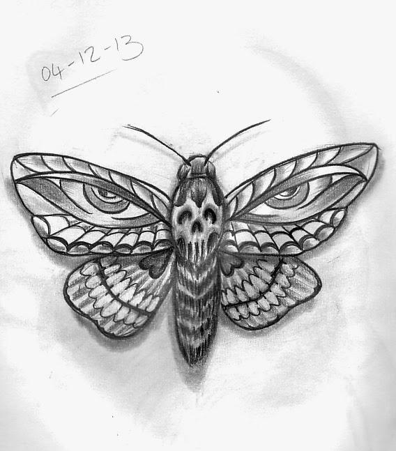 Moth drawing - photo#21
