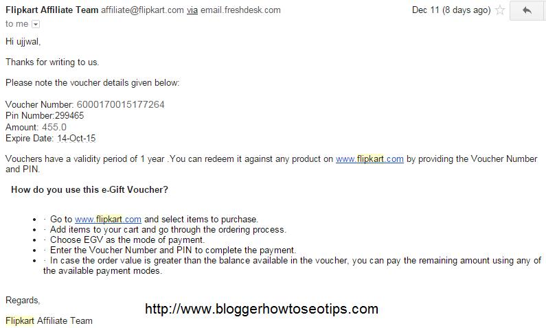 How to Use Flipkart Affiliate EGV