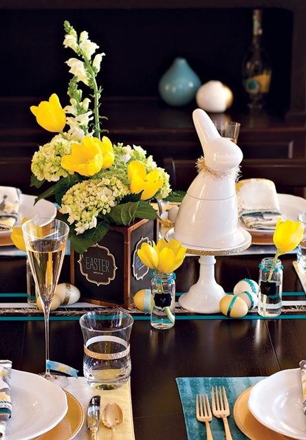 decoração de almoço de páscoa