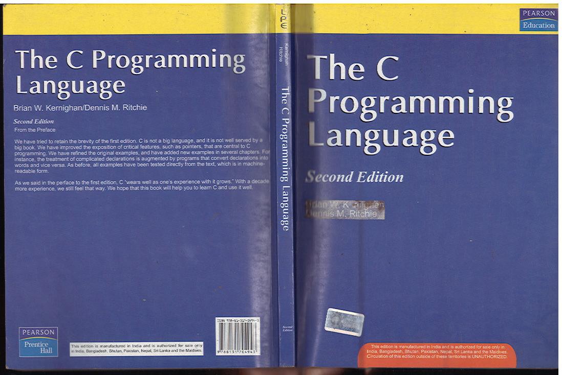 Book c ritchie programming pdf dennis by