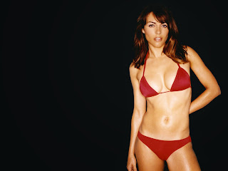 Elizabeth hurley high defination photo in red bra and nikar
