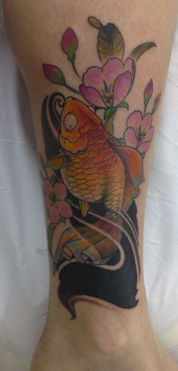 Hunger games wallpaper goldfish tattoo for Goldfish tattoo meaning