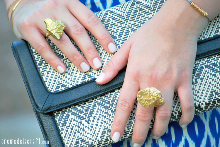 DIY: Gold Statement Ring From A Rock