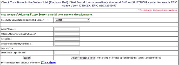CEO Delhi Voter List 2014